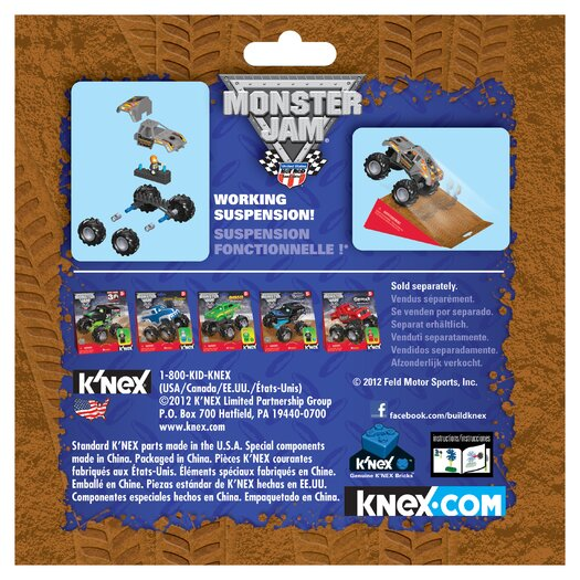 K'NEX Monster Jam Maximum Destruction Building Set