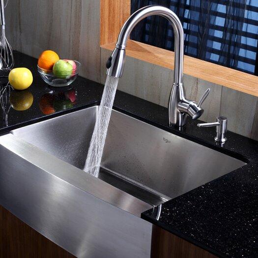 "Kraus 29.75"" x 20"" Farmhouse Kitchen Sink"