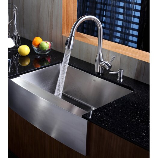 "Kraus 29"" x 20"" Farmhouse Kitchen Sink"