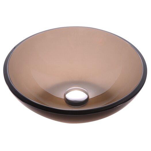 Kraus Glass Vessel Sink in Brown