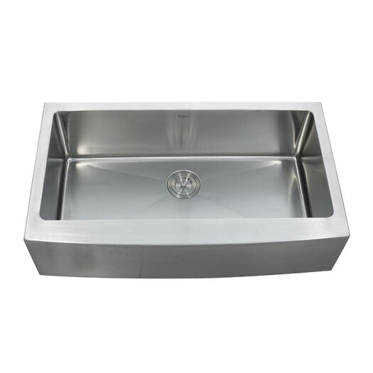 "Kraus 35.875"" x 20.75"" Farmhouse Kitchen Sink with Faucet and Soap Dispenser"