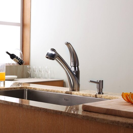 "Kraus 30"" x 18"" Undermount Kitchen Sink with Faucet"