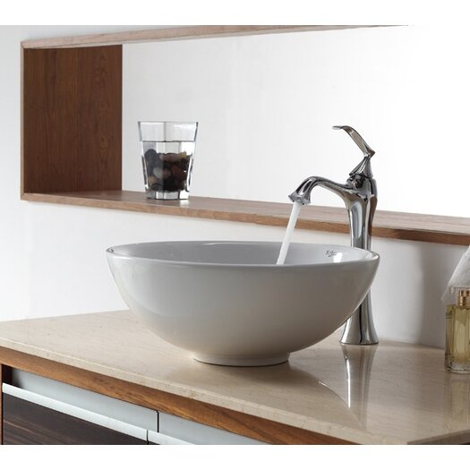 Kraus Bathroom Combos Bathroom Sink with Single Handle Single Hole Ventus Faucet