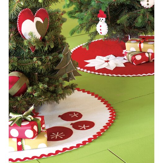 Eastern Accents North Pole Tinsel Town Mini Tree Skirt in White