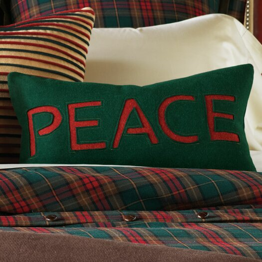 Eastern Accents Home for The Holidays Peace Decorative Pillow