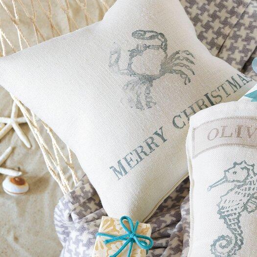 Eastern Accents Coastal Tidings Festive Crab Decorative Pillow