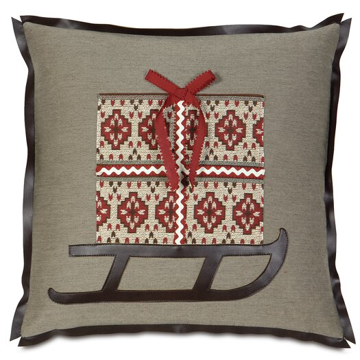 Eastern Accents Nordic Holiday Santa's Sleigh Pillow