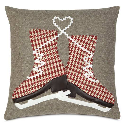 Eastern Accents Nordic Holiday Glass Skaters Pillow
