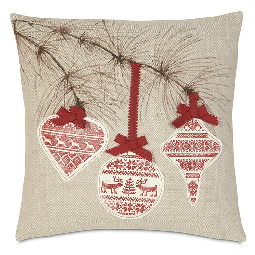 Eastern Accents Nordic Holiday Festive Bow Pillow