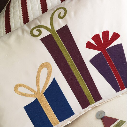 Eastern Accents Candy Cane Mod Presents Decorative Pillow