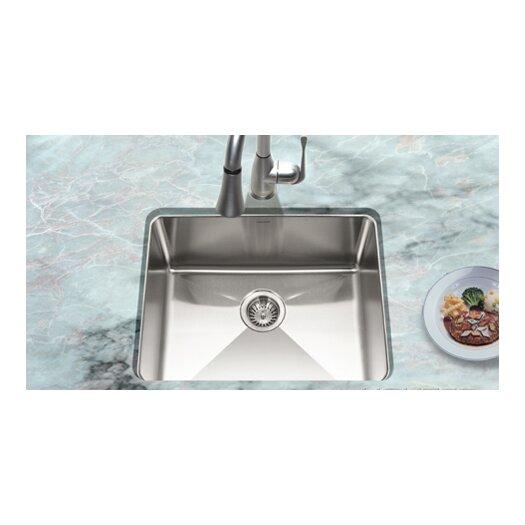 "Houzer 23.07"" x 18"" Nouvelle Undermount Single Bowl Kitchen Sink"