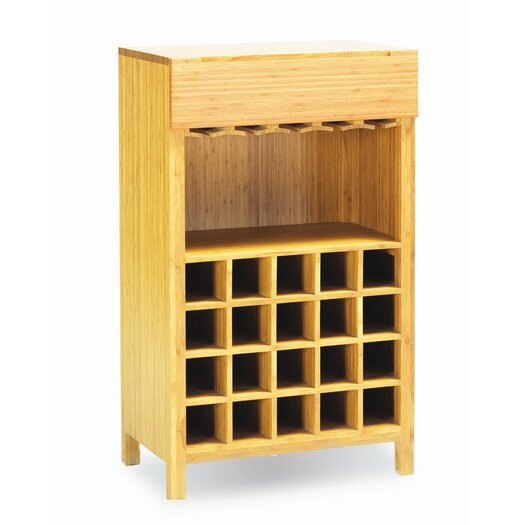 Greenington Orchid 20 Bottle Wine Bamboo Rack