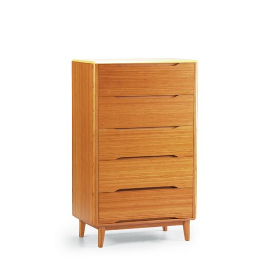 Greenington Currant 5 Drawer Bamboo Chest