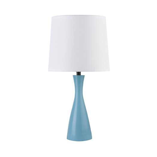"Lights Up! Oscar Boudoir 18"" H Table Lamp with Empire Shade"