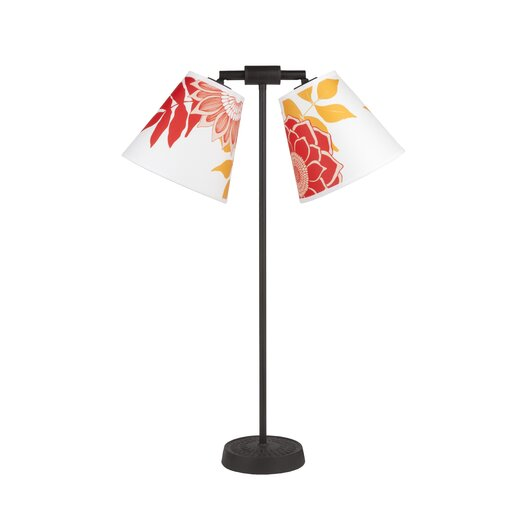 "Lights Up! Zoe 26"" H Lamp with Empire Shade"