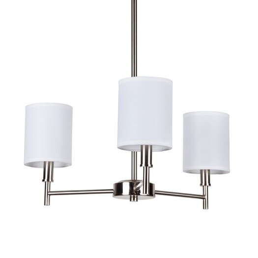 Lights Up! Walker 3 Light Mini Chandelier with Clip Shades