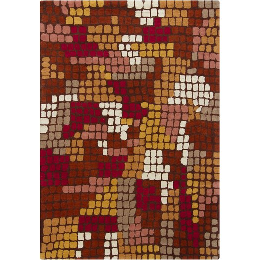 Chandra Rugs Gagan Brown Abstract Area Rug