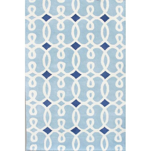Chandra Rugs Davin Blue Geometric Rug