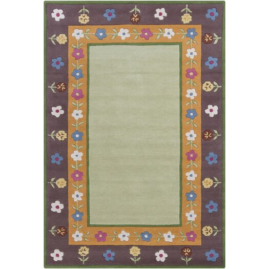 Chandra Rugs Kids Green Area Rug