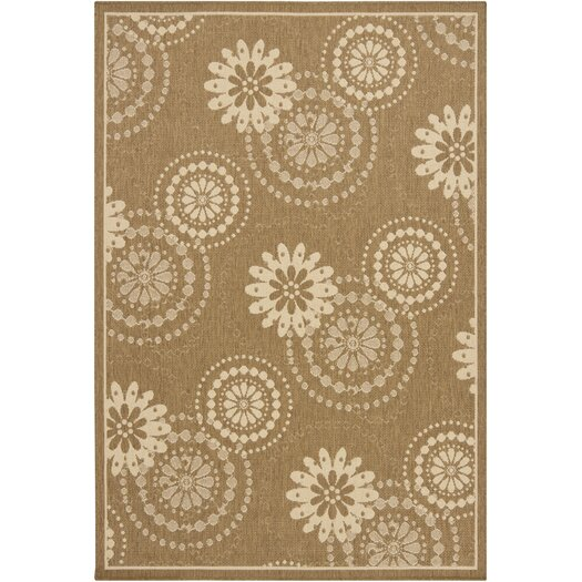 Chandra Rugs Ryan Brown Indoor/Outdoor Area Rug