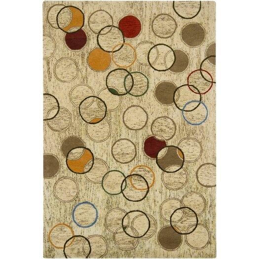 Chandra Rugs Tupelo Tan Abstract Area Rug