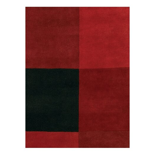 Chandra Rugs Antara Red/Black Area Rug