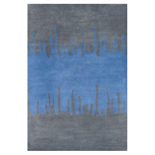 Chandra Rugs Faro Blue/Gray Area Rug