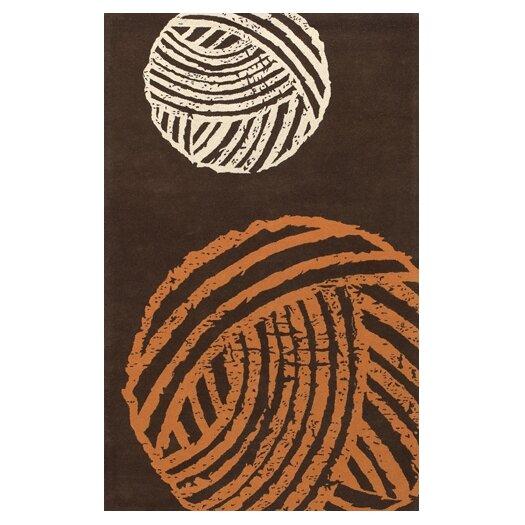 Chandra Rugs Fenja Brown/Orange Area Rug