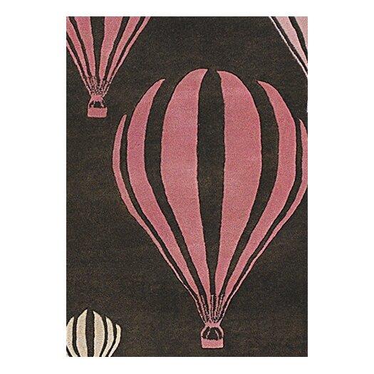 Chandra Rugs Kids Balloon Pink/Brown Area Rug