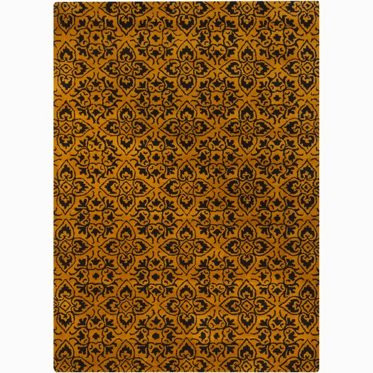 Chandra Rugs Bajrang Gold/Yellow Floral Area Rug