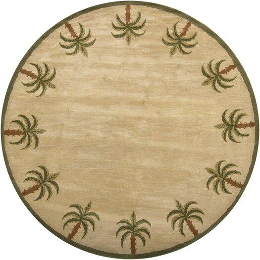 Chandra Rugs Palm Novelty Beige Area Rug