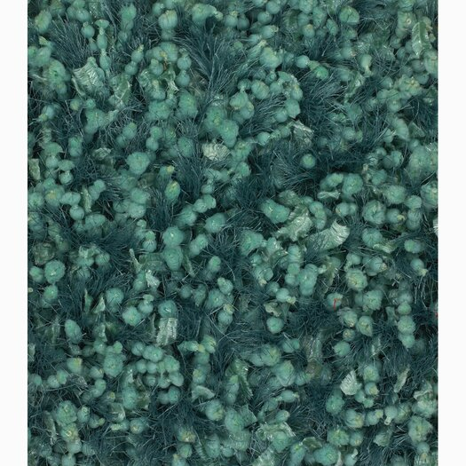 Chandra Rugs Riza Green Solid Area Rug