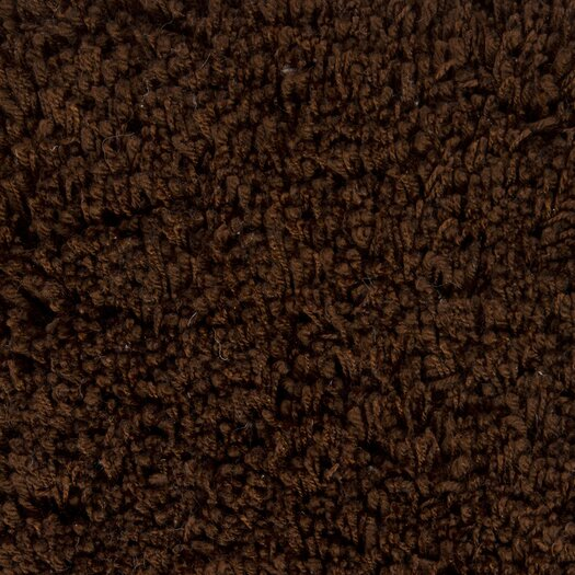 Chandra Rugs Bancroft Shag Dark Brown Area Rug