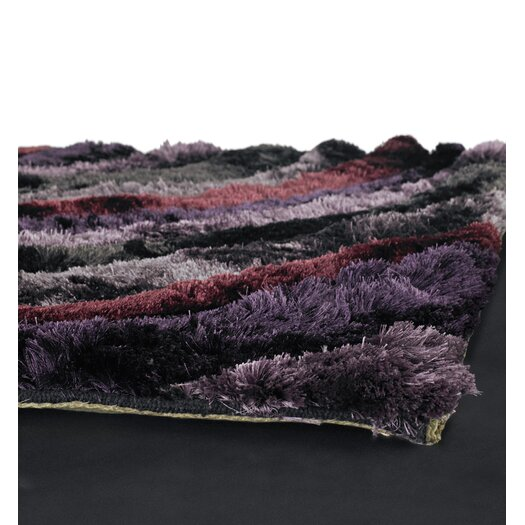 Chandra Rugs Flemish Shag Purple Area Rug