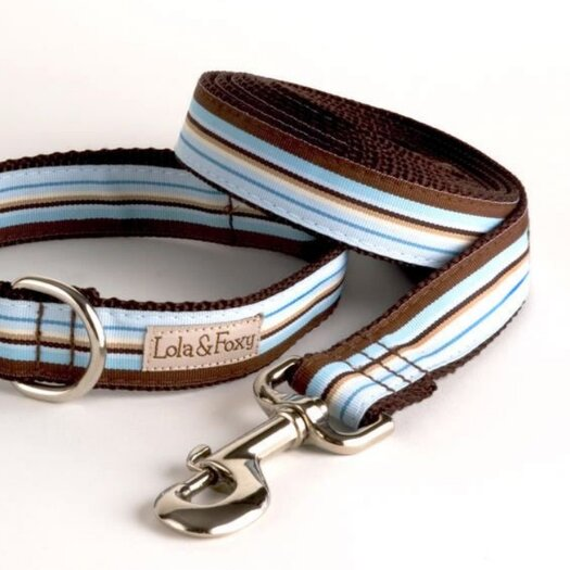 Lola and Foxy Foxy Stripe Dog Lead