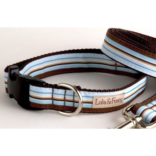 Lola and Foxy Foxy Stripe Dog Collar