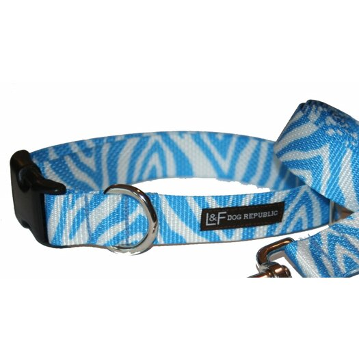 Lola and Foxy Blue Hugs Dog Collar