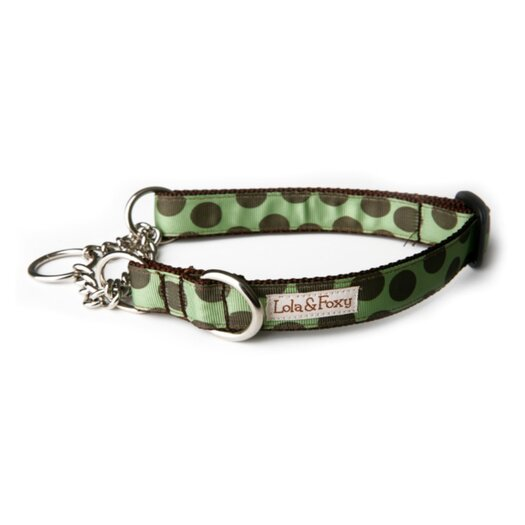 Lola and Foxy Mint Chocolate Chip Martingale Dog Collar