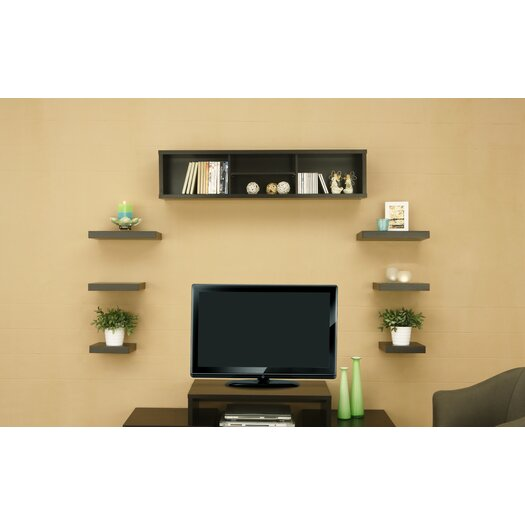 Hokku Designs Somer 7 Piece Hanging Shelves and Cabinet Set