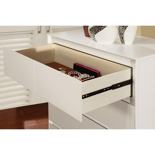 Hokku Designs Pearl 2 Drawer Nightstand