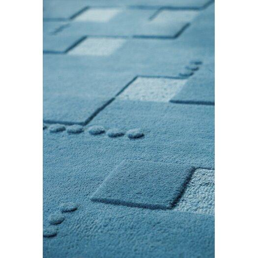 Hokku Designs Mat The Basics Doral Blue Area Rug