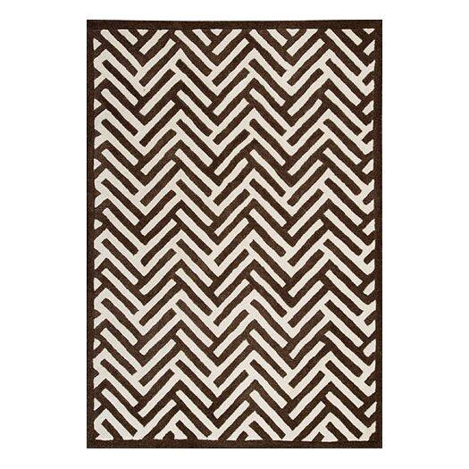 Hokku Designs Mat The Basics Tracks Brown Area Rug