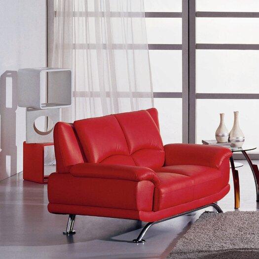 Hokku Designs Jaeger Leather Loveseat