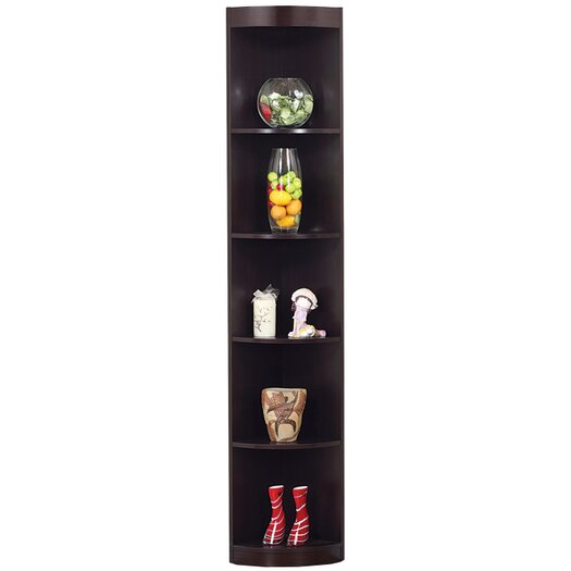 "Hokku Designs 76.75"" Tray Corner Bookcase"