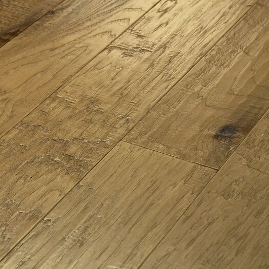 "Shaw Floors Epic Pebble Hill 5"" Engineered Hickory Flooring in Prairie Dust"