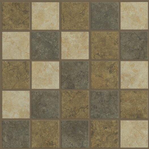 Shaw Floors La Paz Mosaic Tile Accent in Tierra / Azucar / Blue Agave