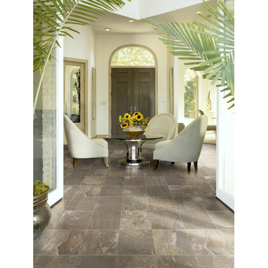 "Shaw Floors Metropolitan Slate 12"" x 12"" Floor Tile in Urban Jungle"