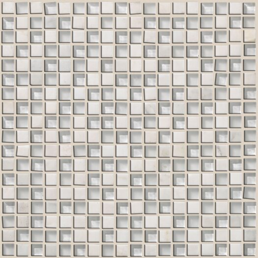 Shaw Floors Mixed Up Stone Unpolished Mosaic in Snow Peak