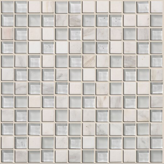 Shaw Floors Mixed Up Mosaic Stone Accent Tile in Snow Peak