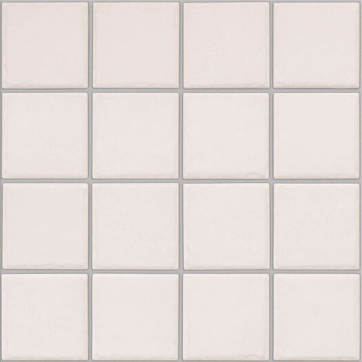 Shaw Floors Colonnade Ceramic Unpolished Mosaic in Plain White